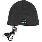 dark grey Bluetooth Music Beanie hat with built-in speakers listen to music Take phone calls mic removable Charge via a USB cable women Wireless Unisex travel Smart musician music mobile Men Knitted headsets Headset headphones Headphone hats hat girls earphones earphone Earbuds earbud caps Cap boys Bluetooth beanies Beanie