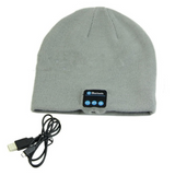 grey Bluetooth Music Beanie hat with built-in speakers listen to music Take phone calls mic removable Charge via a USB cable women Wireless Unisex travel Smart musician music mobile Men Knitted headsets Headset headphones Headphone hats hat girls earphones earphone Earbuds earbud caps Cap boys Bluetooth beanies Beanie