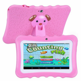 pink Kids' Quad-Core HD Tablet Get your kids these next generation tablets! Brilliant for children's learning, intellectual development, & entertainment tablets quad pcs pc kid-safe kid's kid ipads ipad inch girls girl gift entertainment educational education Core childrens Children child boys boy android 8GB 7""