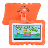 orange Kids' Quad-Core HD Tablet Get your kids these next generation tablets! Brilliant for children's learning, intellectual development, & entertainment tablets quad pcs pc kid-safe kid's kid ipads ipad inch girls girl gift entertainment educational education Core childrens Children child boys boy android 8GB 7""