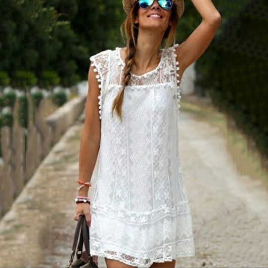 Sleeveless Lace Summer Dress