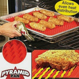 Pyramid Non-Stick Fat-Reducing Baking Tray Sheet