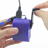 Hand Crank Emergency Phone Charger outdoor charging tool when bored LED light USB interface, 5V output, USB tablets tablet Supply powerful Powered powerbanks PowerBank power supply power bank power phones phone outdoors outdoor mp4 mobiles mobilephone mobile phone mobile Manual Handheld Hand For emergencies Dynamo Crank chargers