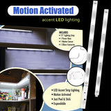 Set of 2 Motion Activated LED Lighting Bars