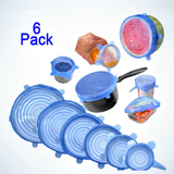 Set of Silicone Suction Food Covers