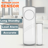 Smart Window and Door Alarm They come as a set of four window or door sensors home security windows travel smart Sensors Sensor senses Security secure Safety safe office noise Magnets magnetically magnetic magnet LOUD house home security Home extra doors doorbell alerting alert alarms activation activate