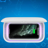 Smartphone UV Disinfection and Wireless Charging Box Disinfect your mobile phone Violet ultraviolet ultra smartphones smart phone phones phone mount phone holder phone mobiles mobilephone mobile phone iphones iPhone headphones Headphone fast charge earphones disinfecting disinfectants disinfectant chargers charger charge boxes