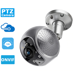Smooth Pan and Tilt Security Camera See what's happening inside or outside your home Wireless WiFi Webcam Waterproof Tracking tilts tilting Speed smooth smartphones smartphone smart phone smart security cameras Security Pan outdoors outdoor Infrared HD Dome CCTV camera's cam's Cam Auto and 2MP