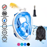 Full Face Snorkel Mask with Option for HD Camera