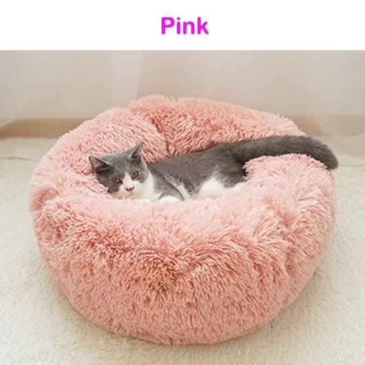 Pink Soft Plush Pet Bed Give your pet the best with this super comfortable plump silky cushion White waterproof water resistant warm squishy squish sleep silky secure puppy puppies Plush plump Pink Pillow pets pet owner pet care paws Paw luxurious kittens kitten indoors fabric dog cosy cat beds
