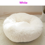 White Soft Plush Pet Bed Give your pet the best with this super comfortable plump silky cushion White waterproof water resistant warm squishy squish sleep silky secure puppy puppies Plush plump Pink Pillow pets pet owner pet care paws Paw luxurious kittens kitten indoors fabric dog cosy cat beds