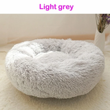 Light grey Soft Plush Pet Bed Give your pet the best with this super comfortable plump silky cushion White waterproof water resistant warm squishy squish sleep silky secure puppy puppies Plush plump Pink Pillow pets pet owner pet care paws Paw luxurious kittens kitten indoors fabric dog cosy cat beds
