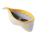 yellow Soft Zip Glasses Case Keep your glasses safe and scratch free zips Zipper Zipped zip trending travel sunnies sun glasses sun soft smartphone scratch resistant phone lens iPhone holiday's holiday Handy grey glasses gigs gift felt eye glasses Cosmetics Cosmetic Cool Compartment co-ordinated co-ordinate Co-Ord cases Carry-On carry case carry