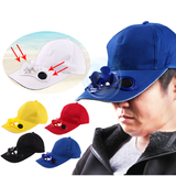 Solar-Powered Fan Baseball Cap Keep shaded from the sun cool shade baseball cap solar powered fan, blows on your face women sun shade summer spray sport solarpower solar-powered solar shades shade relief neck mini fan Men invention ingenious hats hat garden fun fresh fans fan days out Caps Cap blowing baseball cap baseball adjustable fan