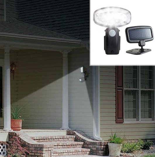Solar-Powered Motion Sensor Security Light