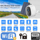 Wireless Solar Security Camera Add extra security to your home work WiFi Webcam Weatherproof weather waterproof water resistant video surveillance solarpowered solarpower solar-powered solar panel security cameras secure safe remotely remote photo outdoors outdoor motion mini IP Home eco-friendly detection CCTV camera's cam's Cam