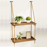Solid Natural Floating Wooden Shelves As these shelves are made of natural wood, the colour finish may vary slightly Made in the UK woodwork woods woodern wooden wood walls wall-mounted wall Solid Shelving shelves shelve shelf Rustic ropes Rope natural hanging hangers Hanger hang floats Floating float