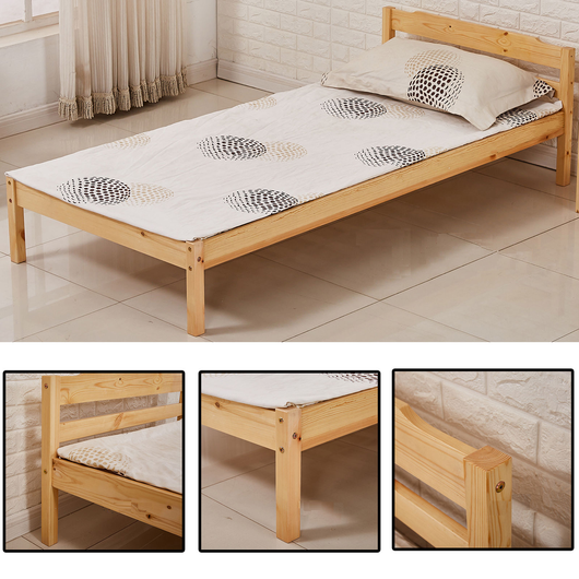 Solid Pine Wooden Single Bed