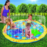 Splash Water Play Mat The inflatable splash play mat gently sprinkles & sprays water swimming pool Sprinklers sprinkler Sprinkle sprays spray splashing Splash pools playmat's playmat playing play mat play Mat's mat kids inflatables inflatable girls girl garden parties fun childrens Children child boys boy beaches beach bbqs BBQ Baby
