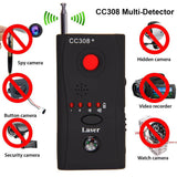 Spy Camera Detector & Bug Finder CC308+ uses active laser scanning to sweep the area eavesdropping devices trackers tracker telephone spying Spy signals Signal security cameras security camera RF motion detectors motion detector hidden GSM gps gift finders finder find Detectors detection detect CC308
