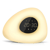 Sunrise and Sunset Simulation Alarm Clock Wake up light 30 minutes before alarm time, the light gradually illuminates with Touch sunshine sunsets sunrises Sunrise sunny sunlight sun sounds RGB nighttime nights Nightlight night time night light natural lightup lights lighting Light-up Light Lamp's lamp dimmable clock's and alarms alarm clocks alarm clock