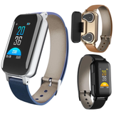 blue T89 TWS SmartWatch & Earbuds Set cutting edge track your health data HD quality TWS earbuds weather waterproof watch USB TWS tracker track social smartwatches Smartwatch smartphones smartphone smart pedometer LED IP67 iOS in-ear heart health headphones ears earphones earbuds ear display calorie bracelet bluetooth APP