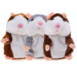 Talking Hamster Toy Adorable record-able perfect gift for children Toy's Toy hamster talks Talking talkative Stocking Speak sound recording Recordable record rabbit Plush playing play pet's pet owner mouse kid's Hamster's hamster fury fun for fluffy entertainment entertaining Children child Baby babies animals Active