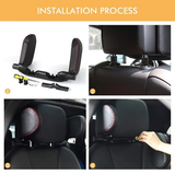 Travel Support Head Rest Make long car journeys much more comfortable Great for passengers to relax in comfort commuting or driving holidays headrests Rests heads supports supportive Support's Van travelling travel supporting soft sleep rest relaxing leather journeys journey headrest detachable cushion colours colour cars car