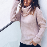 Pink Turtleneck Sweater Ideal for everyday casual wear, these soft-to-the-touch woven lightweight, warm, and comfortable Women's women's women womans woman Turtleneck turtle sweaters sweater Red Pink neck's neck mummy mum's mum mothers mother ladys Lady Ladies jumpers jumper Grey girl's girl cardigans Cardigan