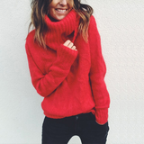 Red Turtleneck Sweater Ideal for everyday casual wear, these soft-to-the-touch woven lightweight, warm, and comfortable Women's women's women womans woman Turtleneck turtle sweaters sweater Red Pink neck's neck mummy mum's mum mothers mother ladys Lady Ladies jumpers jumper Grey girl's girl cardigans Cardigan