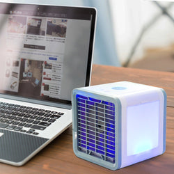 USB Mini Air Conditioner Compact, eco-friendly, personal air conditioner Designed with humidification, refrigeration, and air purification functions USB Mini fresh air fans fan cools Cooling coolers Cooler cool down Cool Conditioning Conditioners Conditioner condition Arctic airing Airers Airer aircon air vent air con air