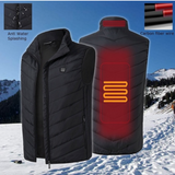 USB Heated Thermal Padded Down Vest
