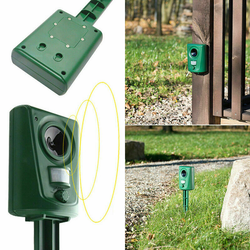 Sonic Animal Repeller stop cats, dogs, foxes & rodents Humane, non-toxic, and solar-powered wave Ultrasonic Sensors sensor light rodent rodent Repeller pest motion sensor lightup lights Light Up leds LED gardens gardening gardeners gardener garden flashing flashes Flasher flash dog