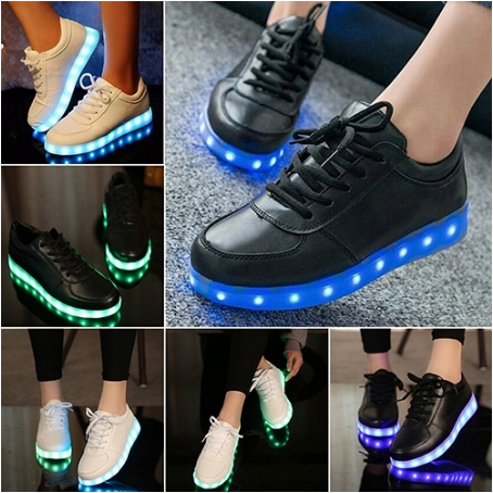 Unisex LED Light Up Trainers