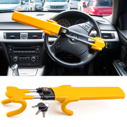Universal Car Steering Wheel Lock Secure your vehicle with this heavy duty Twin bars Your Wheeled wheel's Twin Thieves theft stop Stealing Padlocks Padlock locks locking locked Lockable keys In-Car FITTED Fit cars carpark caravans caravan car repair car park car maintenance car accessories Car bars Bar anti theft