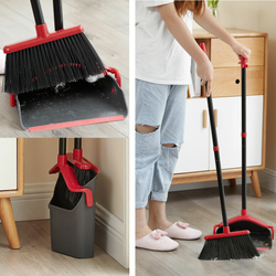 No Kneel Dust Pan & Brush Set Make light work of sweeping around the home Easy sweep extra long handle floor bristles Teeth Sweeper Sweep Storage pan No Long Kneeling Knee House Home For Folds floors Easy Dustpan dust Cleaning cleaners Cleaner Clean Built-In brushing Brushes Brushed Broom and