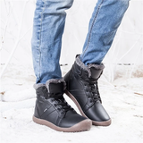 Waterproof Ankle Leather Boots