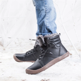 black Unisex Waterproof Ankle Snow Boots perfect casual boot for all weather non-slip rubber sole women woman winter waterproof warmth walking walk unisex trend treds tred thermal support style snow shoes shoe outdoor Men hiking hike fur footwear foot feet faux fashion durable dry dad casual boots boot ankles ankle