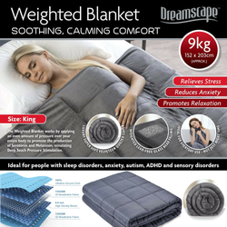 Dreamscape Weighted Blanket Lined with a layer of high-density glass beads help ease anxiety restful sleep body releases serotonin, women woman weights weight Throws throw quilts Quilted quilt panic Men glass girl girl gift duvets duvet disorder depression boys boy blankets beads Anxiety Anti
