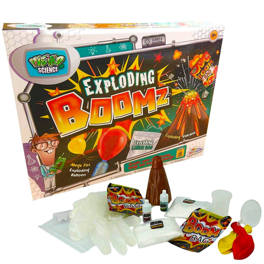 Weird Science Exploding Boomz Set Science fun Perfect for holiday project weird volcano toys toy science school pro-active physics love Learning learned learn laugh kids homework girls girl geeky geek fun fizzing exploding engaged educational toy childs Children's Children child chemistry boys boy boomz biology
