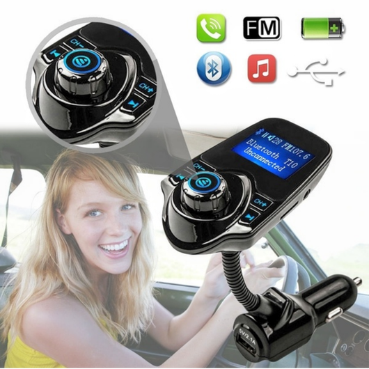 Wireless Handsfree In-Car Bluetooth FM Transmitter