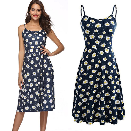Women's Floral Sun Dress Step into summer in style with these fun floral sun dresses Features the classic empire waistline and flared to the knee Women's womens women womans woman travel summer skirts skirt mums mum mothers mother lady's Lady Ladies holiday girl's girl gift Floral Dressings dresses dress's Dress clothing clothes beach dress