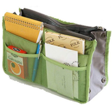 green Women's Handbag Organiser Perfect for you lipstick, bank cards, phone, keys, purse, make-up Multiple pockets