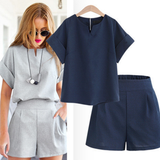 Women's Short Co-Ord Set Short co-ord set Features flattering oversized T-shirt Wide leg, high waist shorts womens women woman travel t-shirt summer style Stronger strong Simple shorts short set plus-size Plus ords ord match Lady holiday gorgeous girl's girl gift fashion curvy co-ords co-ordinate co-ord CO clothing clothes Casual
