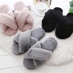Women's Soft Plush Slippers Slip your feet into comfort heaven Made from super soft, silk women wear warmth warming warm toes toe soft slippers Slipper silk shoes shoe Pyjamas non slip nightwear nan mums mum mother Luxury Lady Ladies girls girl fur footwear flats flat feet fashion criss-cross Cozy cosy comfortable