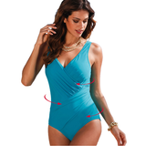 Women's Stylish Plus Size One Piece Swimsuit