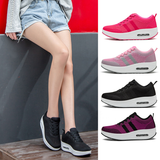 Women's Thick Soled Sports Shoes On point design with think white sole Ideal for walks and exercise Woven Women's womens women womans woman Thick-Soled Thick Sportswear sports sport soles Soled Sole shoes shoe running runners runner run Rocking mesh ladys Lady Ladies girls girl foot soles foot flys flyknit flying fly feet Casuals Casual