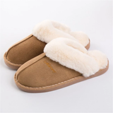 Khaki Women's Warm Mule Slippers feet warm comfortable style Include slip-resistant soles slip-on design is easy to wear real suede leather outer's, a plush faux fur lining Amazingly soft comfortable women womans woman warmth warming warm Slipper's Slipper shoes shoe mums mothers mother Luxury Lady Ladies Home girls girl gift feet comfort