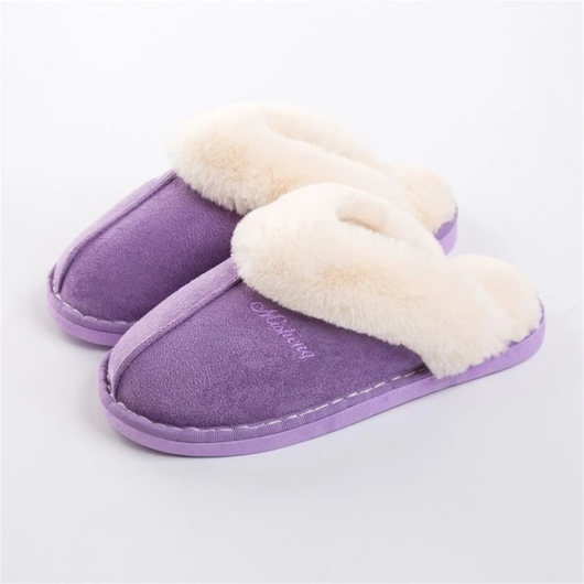 Purple Women's Warm Mule Slippers feet warm comfortable style Include slip-resistant soles slip-on design is easy to wear real suede leather outer's, a plush faux fur lining Amazingly soft comfortable women womans woman warmth warming warm Slipper's Slipper shoes shoe mums mothers mother Luxury Lady Ladies Home girls girl gift feet comfort