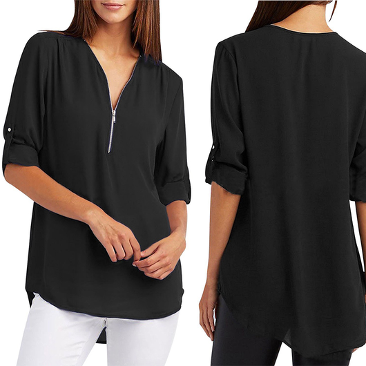Women's Zip-Front Blouse